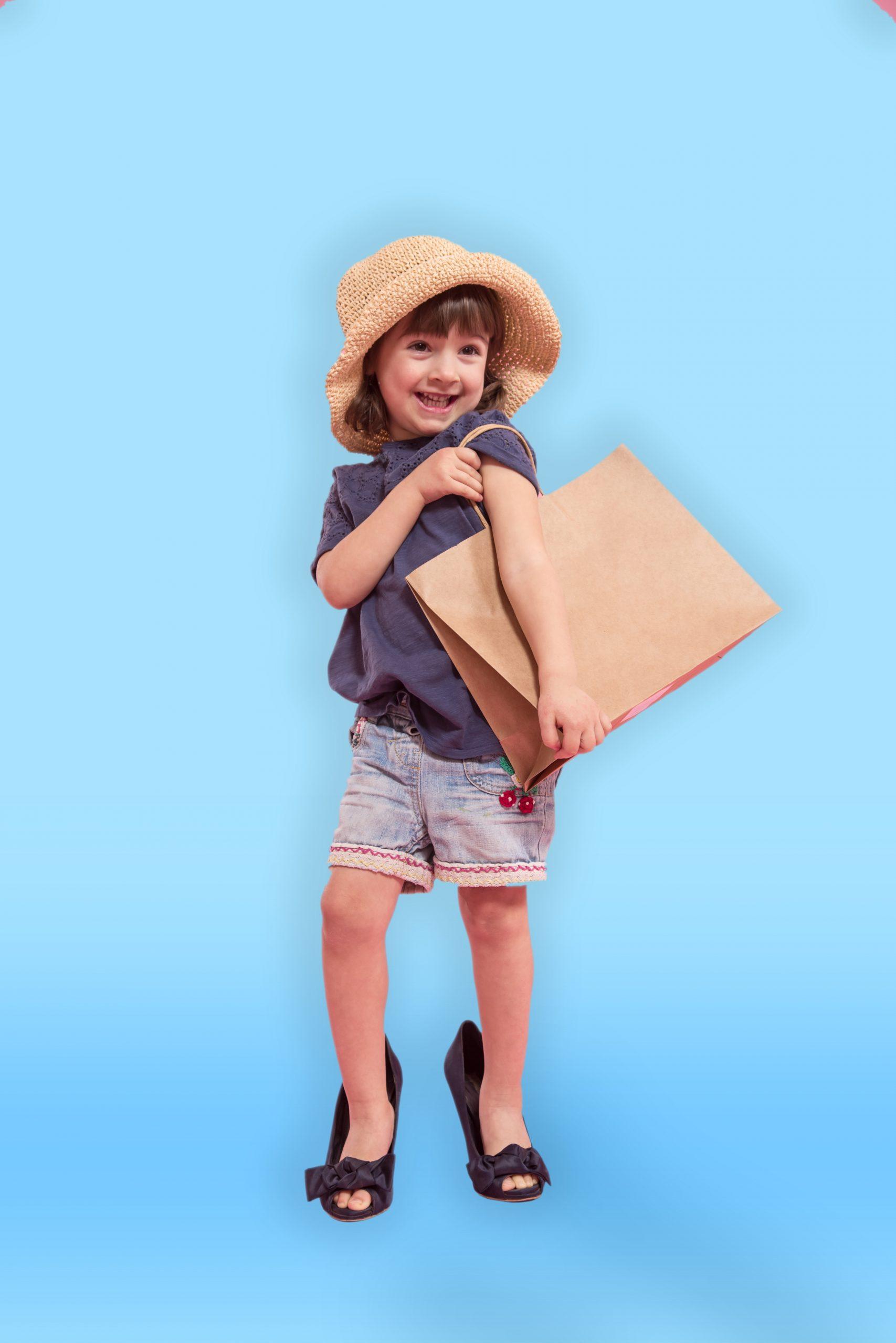 Girl dresses up as mum