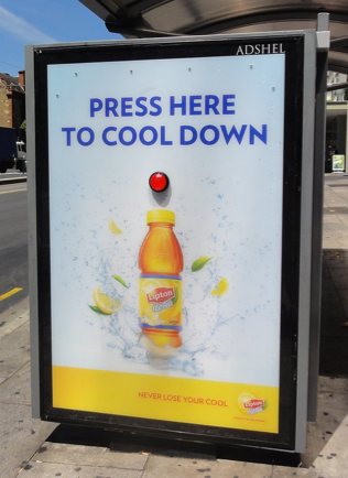 Liption Refreshing Interactive Bus Stop Ad